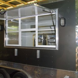 Charcoal Gray 8.5 x 12 Yogurt Concession Trailer