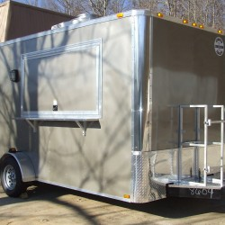 (#0005) Silver Concession Trailer