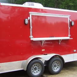 (#001)  Red Concession Trailer - Advanced Concession Trailers