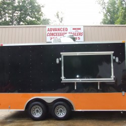 (#0020)  8.5 x 16 Black and Orange Trailer