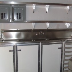 (#2036) Sink System and overhead shelving with power boxes