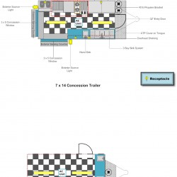 (#3009) 7 x 14 Interior Layout