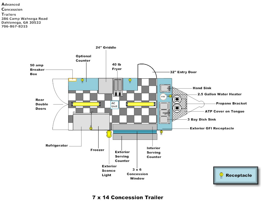 floor layouts advanced concession trailers bbq concession trailers with porch concession trailer schematics #15