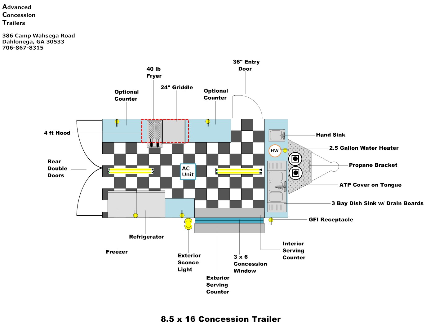 FLOOR LAYOUTS Advanced Concession Trailers