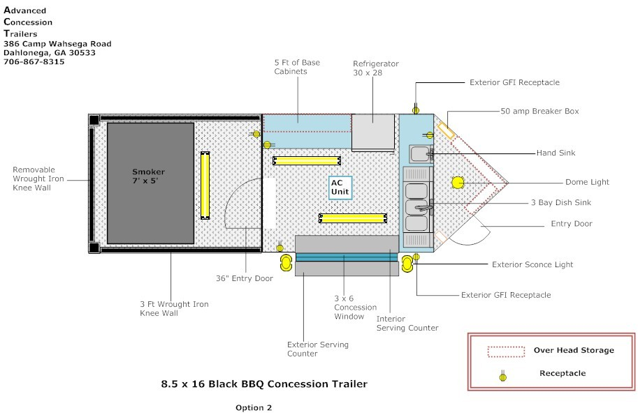 8 5 X 20 Bbq Layout Advanced Concession Trailers