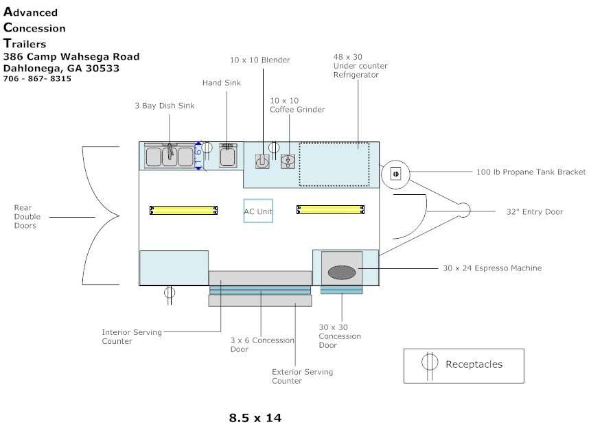 Food truck layout design for Food truck layout plans
