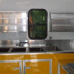 (#1004) Interior Shaved Ice Trailer with Window and Flavor Racks