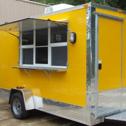 (#1003) Exterior Shaved Ice Trailer, Yellow Color