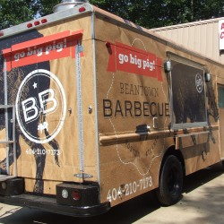 (#2118) Rear and Side View Food Truck